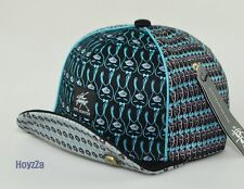 5 Panel Flexible Wired Short Visor Hat One Eye Rabbit Cap Adjustable - Black