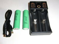 2 batterie SAMSUNG INR 18650 25R 2500 mAh 20/25A + automatic charger