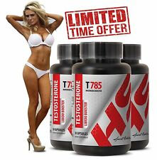 Testosterone Test - Testosterone Libido Booster T785  (3 Bottles, 90 Capsules)