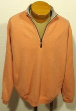 men's TOMMY BAHAMA peach 1/2 zip reversible sweater marlin size LARGE