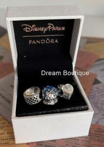 Disney Parks Exclusive PANDORA Holiday Mickey & Minnie Set of 3 Charms NIB