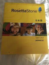 ROSETTA STONE JAPANESE Levels 1 2 & 3