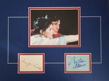 CHRISTOPHER REEVE & MARGOT KIDDER Signed 16x12 Mounted Display SUPERMAN COA