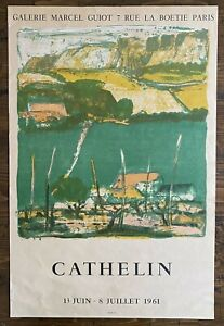 Cathelin Exhibition Poster Galerie Maeght Paris 1961 Bernard Lithograph Print
