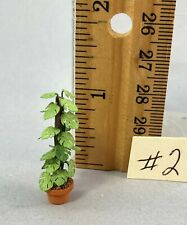 Dollhouse Miniature 1/4 scale split leaf philodendron #2
