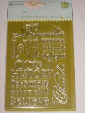 SOMERSET EXPRESSIONS BY BRENDA WALTON #94899 REMEMBER,  LOVE, CHERISH FOR CARDS