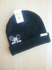 Neff Disney Mickey Mouse Beanie Winter Hat Solid Black New with Tag