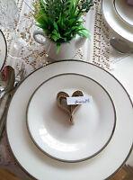 WEDDING TABLE PLACE HEART VINTAGE RUSTIC SHABBY CHIC X 50  HESSIAN BURLAP JUTE