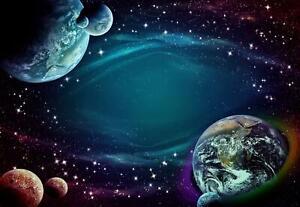 Vlies Fototapete Weltraum Weltall Sternenhimmel Kosmos Kinderzimmer Welt Sterne