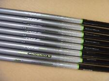 9 New Taylormade RBZ Matrix Program 55 Stiff Graphite Iron Shafts .370