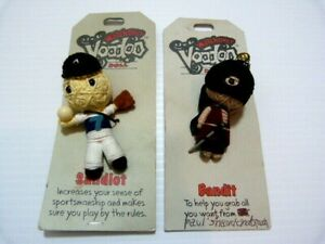 2 x Watchover Voodoo collectible dolls 2009 with string