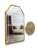 Dolls House 1/12 scale gold effect wall Mirror Lovingly Made by BUSHBABY