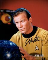 WILLIAM SHATNER signed Autogramm 20x25cm STAR TREK in Person autograph COA KIRK