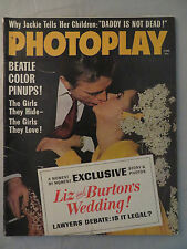 Photoplay Magazine January 1964 Dick Van Dyke Liz & Burton The Beatles Vintage