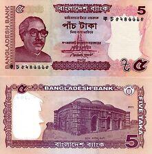 BANGLADESH 5 Taka Banknote World Paper Money UNC Currency Pick p-53a T.A. Rahman