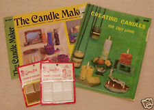 LOT 2 CANDLE MAKING CRAFT BOOKLETS AND 2 CANDLE COLORS