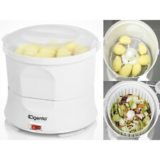 BRAND NEW ELGENTO WHITE AUTOMATIC ELECTRIC POTATO PEELER AND SALAD SPINNER