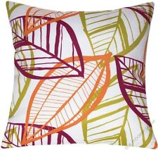 """Orange/Pink/Green Botanical indoor/outdoor throw pillow cover/cushion cover 18"""""""
