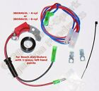 Electronic Ignition Replaces 1-piece, Left-Pivoting points in 4-cyl BMW 3BOS4U2L