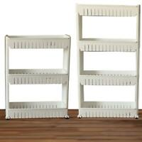 Slide out kitchen trolley rack holder slim storage 3,4 shelf organiser on wheels