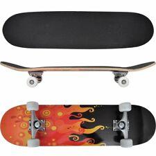 """vidaXL Ovaal Skateboard met Vuur Design 9-Laags Esdoorn Hout 8"""" Skate Board"""