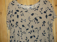 Monsoon stunning floral/leaf tunic.size L/18.VGC
