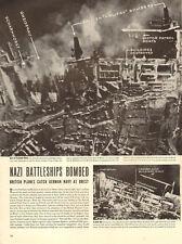 1942 WW 2 Article RAF Bombs German Battleships  Scharnhorst & Gneisenau  092017