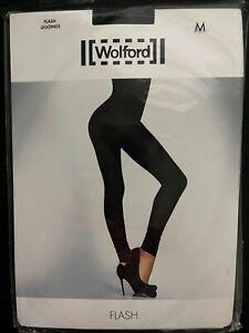 Wolford Flash Black Leggings Medium NWT