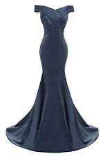 Hot Satin Long Prom Dress Bridesmaid Wedding Evening Formal Party Ball Gown