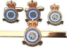 Royal Air Force Transport Command RAF Gift Set Cufflinks, Lapel Badge Tie Clip