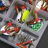 Lot 30pcs Trout Spoon Metal Fishing Lures Spinner Baits Bass Tackle Tool Kits US