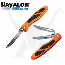 Havalon Piranta Edge Surgically Sharp Knife With Pouch and Replacement Blades Orange