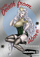 "Lady Death  ""Death From Above""  Metallicard  Ltd. Ed.199 with David Harrigan Art"