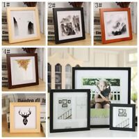 """Square Room Decor Wooden Picture Photo Wall Frame Multi-size 5""""/6""""/7""""/8""""/10"""""""