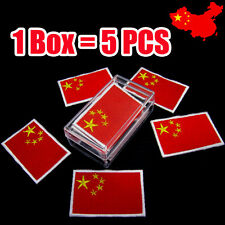 5 PCS China PRC Flag Embroidered Chinese Iron On Patch Beijing Shanghai Macau
