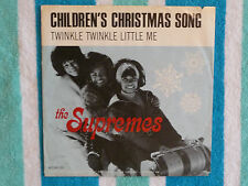 SUPREMES Children's Christmas Song 45 rpm PICTURE SLEEVE ONLY Motown 1965