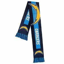 San Diego Chargers Scarf Knit Winter Neck - Double Sided Big Team Logo New 2016