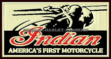 "INDIAN MOTORCYCLE EMBROIDERED PATCH ~4-3/4""x 2-1/2"" RACER CHIEF SCOUT ROADMASTER"
