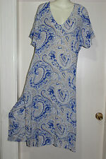 NWT VINTAGE STYLE HIPPY BOHO FESTIVAL KAFTAN DRESS SZ8-10 BY WHITE CLOSET