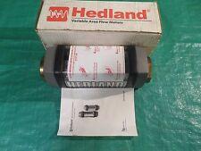 "NEW Hedland Flowmeter H855B-050 Water  5-50 GPM 20-190 LPM 1-1/2"" NPT Flow Meter"