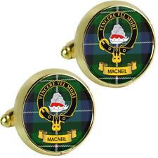 Mens Cufflinks MacNeil Scottish Clan Crest Brass Finish Presentation Boxed