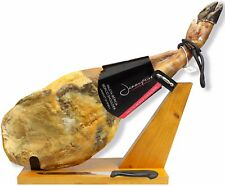 Iberico Ham Grass-fed Bone in 11-12lb + Stand + Knife | Spanish Jamon Pata Negra