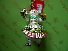Christopher Radko Girl Frosty Treat Glass Ornament