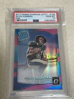 2017 Panini Donruss Optic Pink Alvin Kamara #199 Rookie RC PSA 10 GEM MT Saints