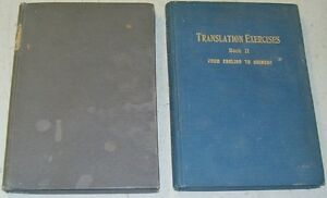 Li Ung Bing TRANSLATION EXERCISES 1911 chinois langue chinoise chinese language