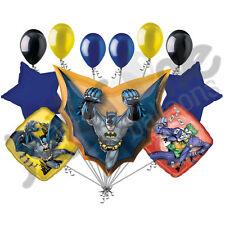 11 pc Batman in Flight Super Hero Happy Birthday Balloon Bouquet Action Cape