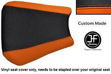 Vinilo Negro y Naranja Personalizado se ajusta a Honda CBR 600 F 01-03 Cubierta de asiento solamente