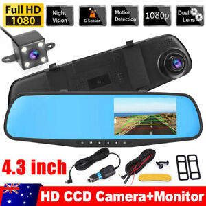 1080P Dash Camera Rear View Car Cam Reversing Mirror Front And Rear DVR Recorder