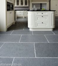 Tumbled Cathedral Ash Grey Limestone Floor Tiles Aged Flagstone Paving Slabs