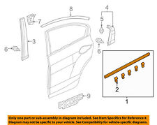 HONDA OEM 12-15 Civic Rear-Window Sweep Belt Felt Molding Right 72910TR0A01